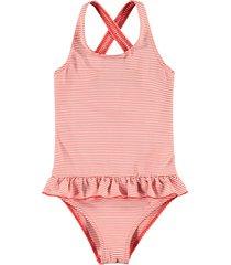 looxs revolution badpak rood streepje voor meisjes in de kleur