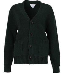 knit cardigan billard green