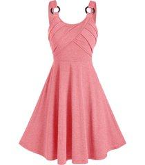 solid color o-ring mini cami dress