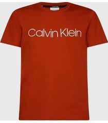 polera calvin klein front logo t-shirt rojo - calce regular
