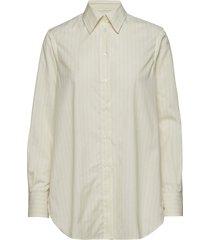 indra cotton silk shirt overhemd met lange mouwen crème filippa k