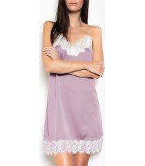 pyjama's / nachthemden admas babydoll zachte crepe paarse adma's