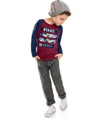 camiseta livy inverno skate rubi/marinho