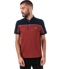 mens lacoste regular fit colourblock polo shirt