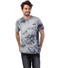 camiseta masculina careca tie dye cinza - cinza - masculino - dafiti