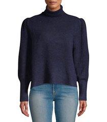swingy rib-knit turtleneck sweater