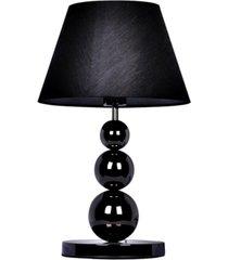 elegant designs pearl black chrome metal three tier ball lamp