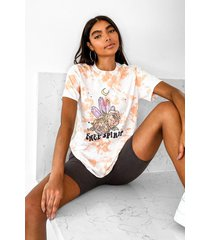 tall acid wash crystal oversized t-shirt, tan