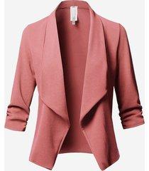 blazer cropped in cotone