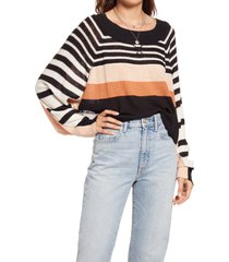 women's free people block party pullover, size x-small - black