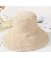 algodón de lino ocasional sombrero de ala ancha sombreros para mujeres