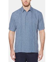 cubavera men's geo print embroidered shirt
