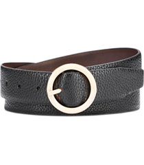 steve madden reversible belt with circle buckle