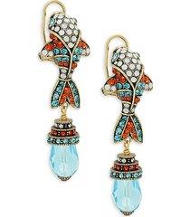 heidi daus women's beaded fish earrings