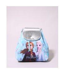 mochila infantil frozen estampada azul