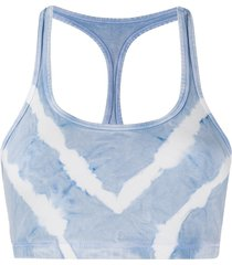 electric & rose rowena tie-dye sports bra - blue