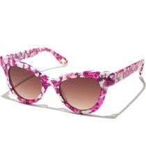 pink taffy uptown cat-eye sunglasses