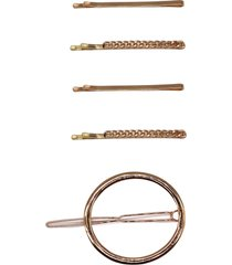 tasha assorted 5-pack hair clips in gold at nordstrom