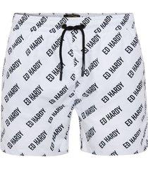 zwembroek ed hardy - logo-rep swim short
