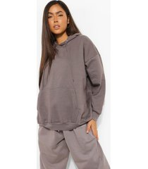 basic oversized hoodie, charcoal