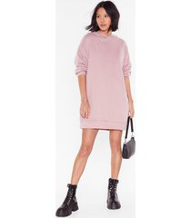womens chills ville relaxed hoodie dress - mauve