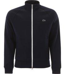 lacoste print zip-up sweatshirt