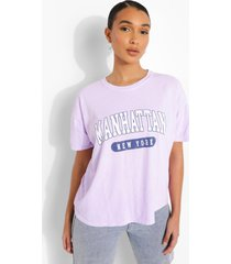 oversized overdye manhantan t-shirt, lilac