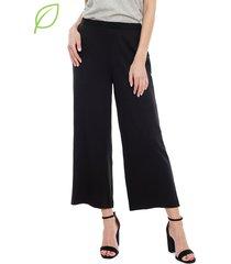 pantalón vero moda indeed culotte negro - calce holgado