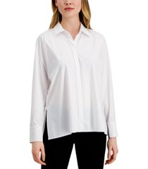 alfani side-slit shirt, created for macy's