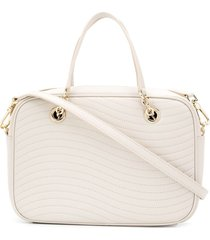 furla swing satchel bag - neutrals