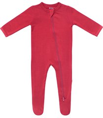 infant kyte baby zip-up footie, size 6-12m - red