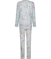 pyjamas mona ljusblå::benvit::gammalrosa