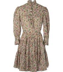 etro short cotton floral paisley dress