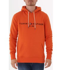 tommy hilfiger tommy logo hoodie - orange rust mw0mw10752