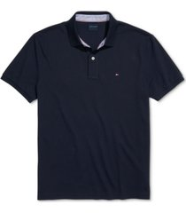 tommy hilfiger adaptive men's custom-fit ivy polo shirt with magnetic closure