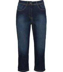 elastische capri-jeans van bio-katoen in 4-pocket-style, donkerblauw 46