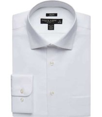 pronto uomo white queens men's oxford classic fit dress shirt - size: 17 34/35 - only available at men's wearhouse