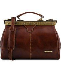 tuscany leather tl10038 michelangelo - borsa medico in pelle marrone