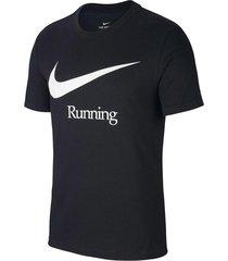 camiseta nike dry run - negro