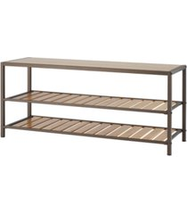 trinity 3-tier bamboo shoe bench