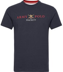 army back nbr tee t-shirts short-sleeved blauw hackett london