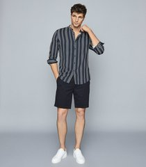reiss wicket - casual chino shorts in navy, mens, size 38