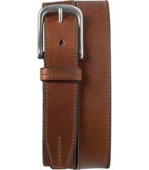 men's trask leather belt, size 32 - brandy