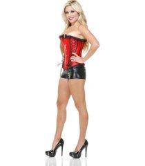 buyseasons women's liquid metal shorts black