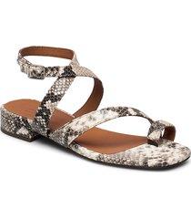 sandals 4026 shoes summer shoes flat sandals beige billi bi