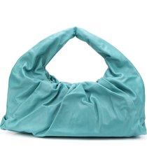 bottega veneta the shoulder pouch oversized bag - blue