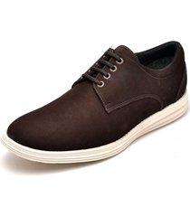 sapatenis masculino casual esportivo go well shoes marrom - marrom - masculino - dafiti