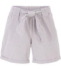 shorts paper bag a righe (grigio) - bpc bonprix collection