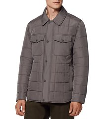 archer quilted shirt jacket
