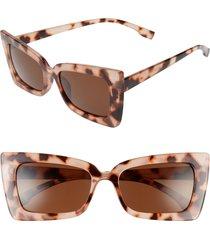 women's bp. futuristic 55mm square cat eye sunglasses - tan